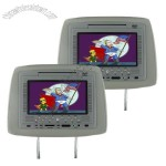 7 Inch TFT LCD Headrest Car DVD Player and NES Emulator (Pair, Grey)