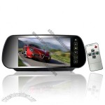 7 Inch TFT Rearview Mirror Monitor (Remote, Dual Speaker)