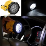 7 LED Flashlight with Car Cigarette Charger and Magnetic Base
