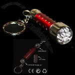 7 Led High Tech Ultra Glow Key Chain Flashlight Torch