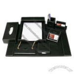 7-Piece Leather Desk Gift Set