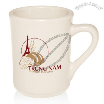 7 oz. Vitrified Diner Coffee Mugs with Your Logo Design