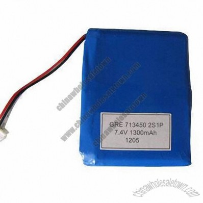 7.4V 1300mAh Lithium Polymer Rechargeable Battery Pack