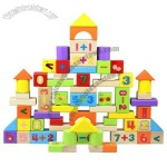 72 PCS Wooden Building Blocks with Numbers