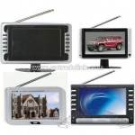 7inch Portable TV with DVB-T, USB and Card Reader