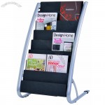 8 Compartment Literature Floor Display Rack