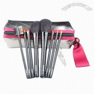 8-Piece Makeup Brush Set With Natural Hair