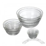 8-pc. Set of Glass Nesting Bowls