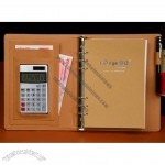 80 Sheet Loose-leaf Notebook with Calculator