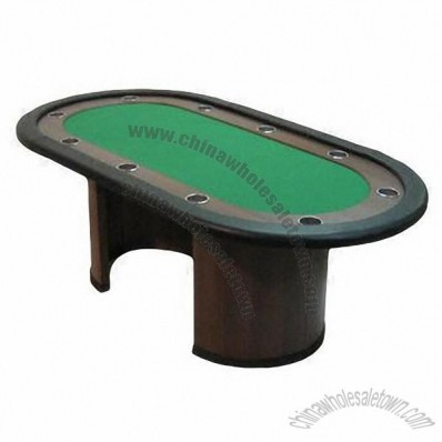82-inch MDF Poker Table with 10 Pieces Stainless Cup Holders