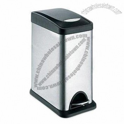 8L Stainless Steel Trash Bin with PP Cover