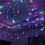 8M Butterfly LED Curtain String Holiday Lights