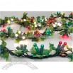 9' Lighted Holly Artificial Christmas Garland - 150 Berry Globe Lights