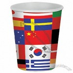 9 Oz International Flag Paper Cups