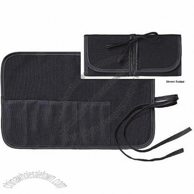 9 Pocket Roll & Tie Brush Pouch