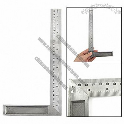 90 Degree Metal L-Square Angle Ruler 130mm x 305mm
