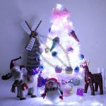 90cm Luxurious White Xmas Tree with LED Light