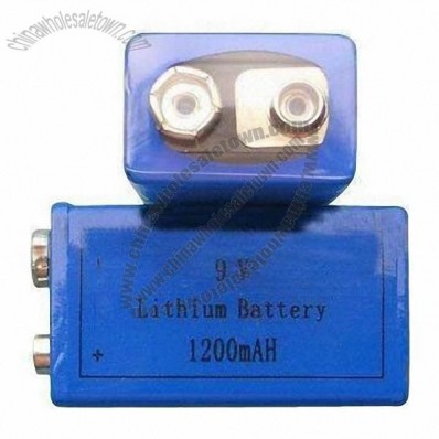 9V 1200mAH Lithium Battery, High Open-circuit Voltage