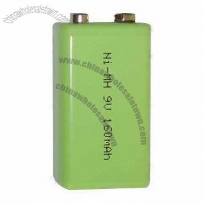 9V/160mAh/1.2V Ni-MH Rechargeable Batteries for DVDs/MP3 Players/Toys