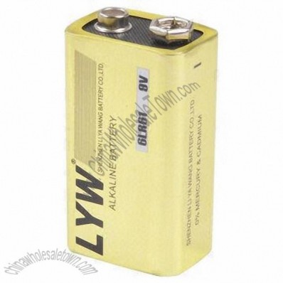 9V super dry cell alkaline battery with long time discharge for flash light, touch, microphone