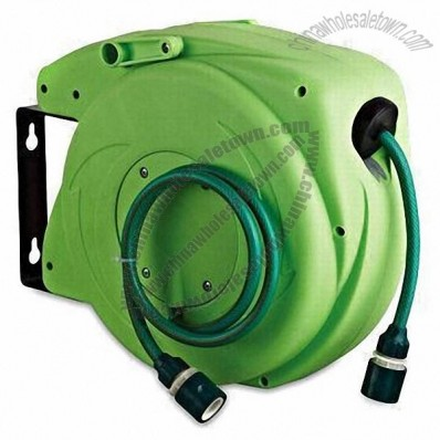 9m/Garden Hose Reel in Economic Design, Made of PP and PVC