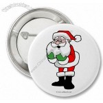A Christmas Button/Badge Santa