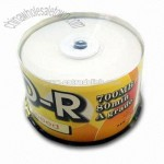 A Grade White Printable CD-R Packing in Cakebox
