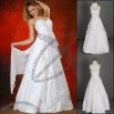 A-line Floor Length Halter Chiffon Wedding Dress with Beading and Ruffles
