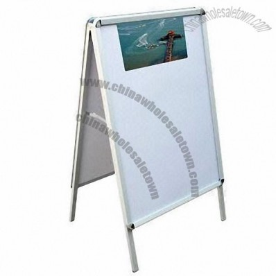 A-shaped Poster Board with Iron Stand and Plastic Cover, Easy to Move