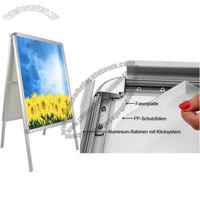 A1 A-Board Aluminium Pavement Sign Snap Frame Poster Holder Double Sided