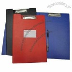 A4 PVC clip boards without plates, suitable for office, meeting, school
