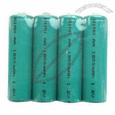 AA/1,800mAh/1.2V NiMH Rechargeable Batteries for Cameras/DVDs/MP3/Toys