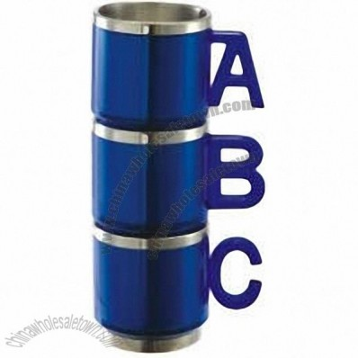 ABC Handle Coffee Mug Set