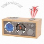 AM/FM Wooden Radio with 5W Speaker and LCD Display
