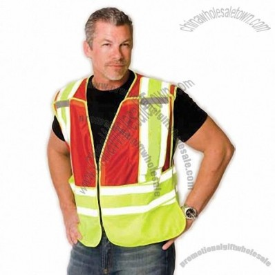 ANSI 207-2006 Class 2 Public Safety Vest, Hi-Vis Yellow/Red