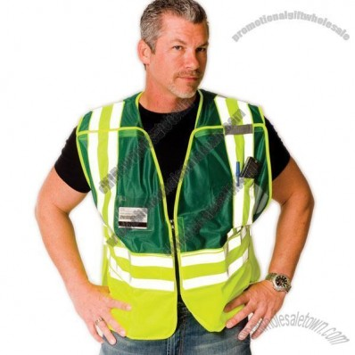 ANSI 207-2006 Class 2 Public Safety Vest with Clear ID Pockets