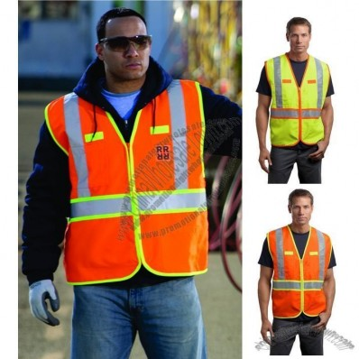 ANSI Class 2 Dual-Color Safety Vest in Safety Orange/Yellow