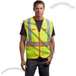 ANSI Class 2 Dual-Color Safety Vest in Safety Yellow