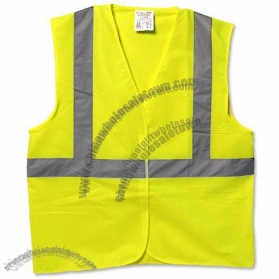 ANSI Class 2 Economy Full Mesh Safety Vest with Velcro Closure - Lime