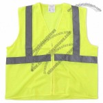ANSI Class 2 Economy Mesh Safety Vest with Zipper Closure - Lime Yellow