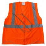 ANSI Class 2 Economy Mesh Safety Vest with Zipper Closure - Orange