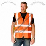 ANSI Class 2 Economy Solid Safety Vest with Velcro Closure - Orange