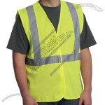 ANSI Class 2 Economy Solid Safety Vest with Zipper Closure - Lime Yellow