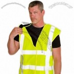 ANSI Class 2 Flame Retardant Solid 5 Point Breakaway Vest - Lime