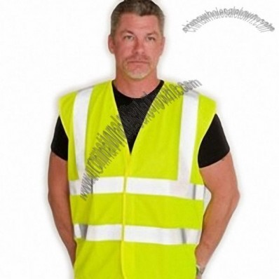 ANSI Class 2 Flame Retardant Solid Safety Vest - Lime