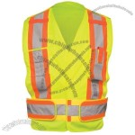 ANSI Class 2 Lime Solid 5 Pt. Tear-Away Safety Vest