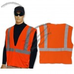 ANSI Class 2 Orange Safety Vest with Pocket