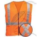 ANSI Class 2 Orange Solid Surveyors Vest - CSA-Z96 Compliant