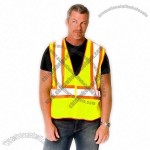 ANSI Class 2 Premium Mesh Safety Vest with Contrast Trim- Lime Yellow