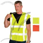 ANSI Class 2 Solid 5 Point Breakaway Vest - Lime